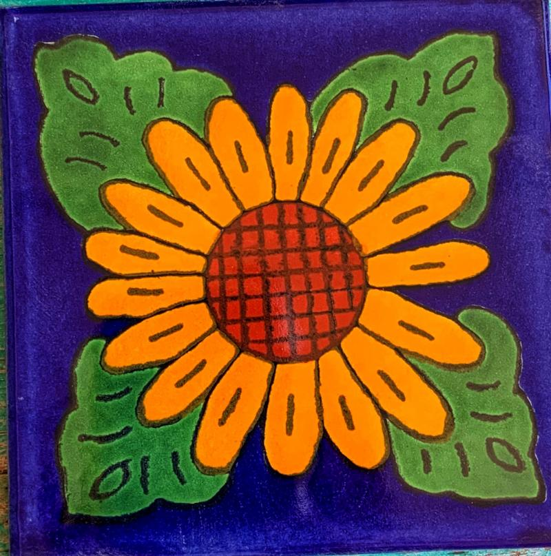 sunflower talavera tile