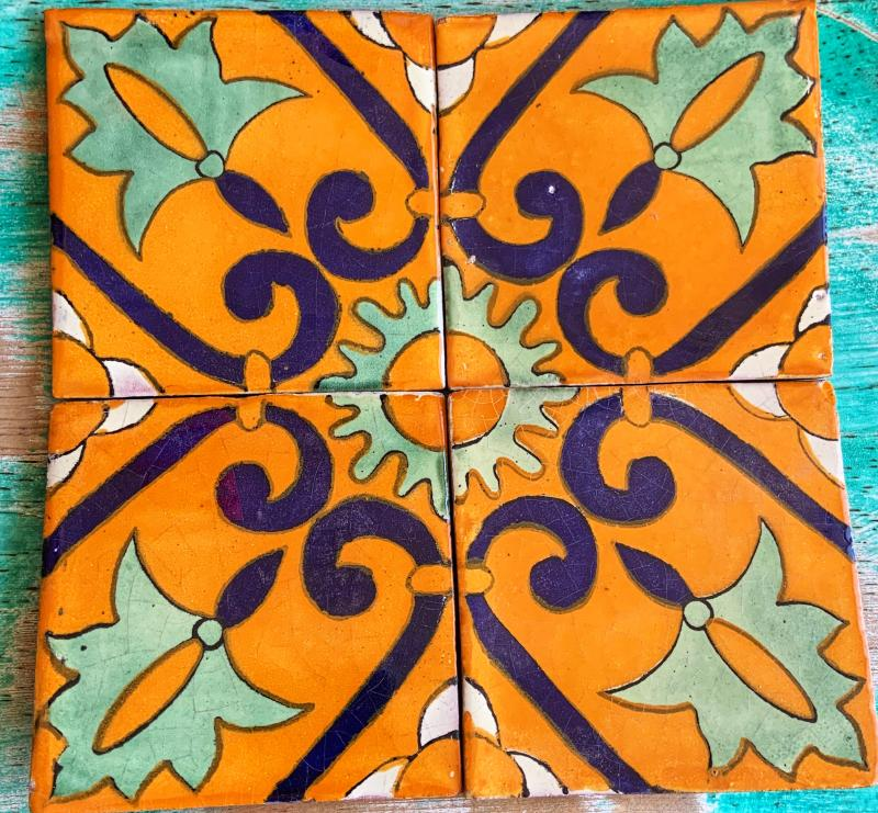 four tile design talavera tile