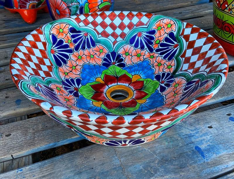 talavera sink-counter top sink