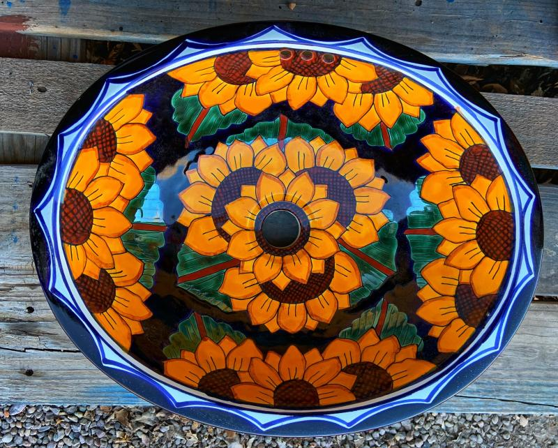 talavera sink-sunflowers